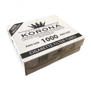KORONA -  гильзы для табака (усиленная коробка), 1000 шт