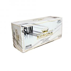 КОРОНА SLIM White гильзы для табака, 250 шт