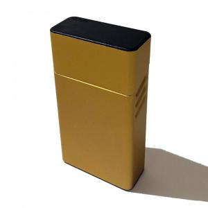 Металлический портсигар на 20 сигарет DEDO (золотой, серебрянный)